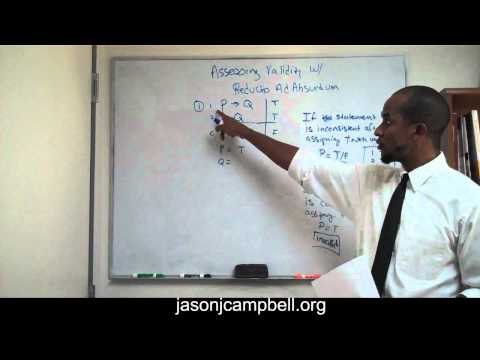 2.  Logic Lecture: Using Reductio Ad Absurdum to Test Validity