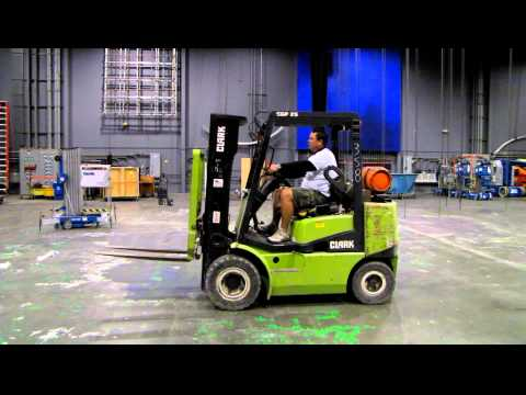 Clark CGP25 Forklift YouTube