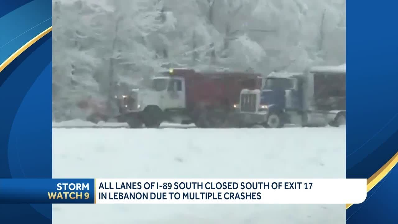 I-89 S closed in Lebanon after multiple crashes