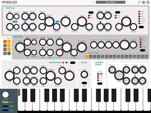 KRONECKER CLOCKWORK SYNTHESIZER by iceWorks - Demo for the iPad
