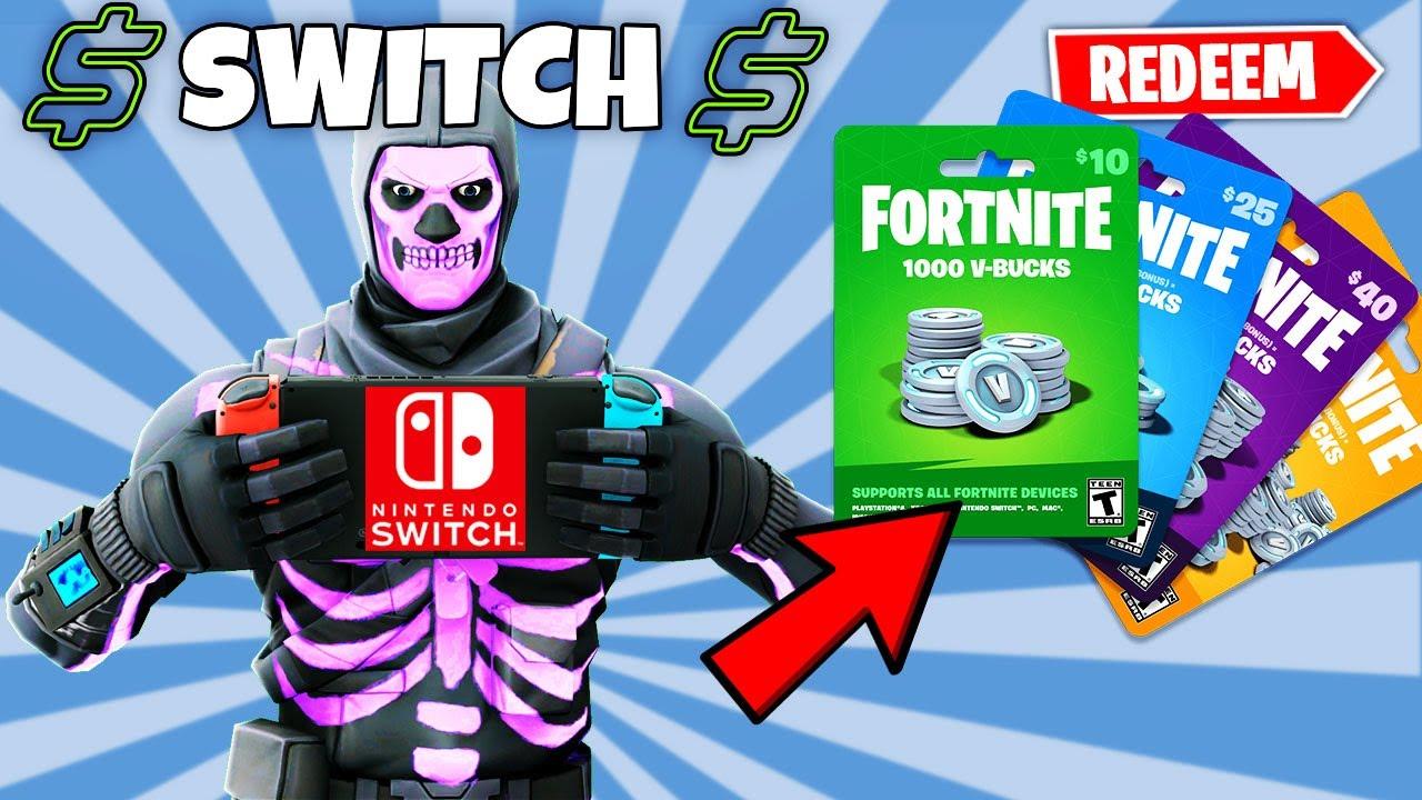 How To Add V Bucks To Fortnite On Nintendo Switch Youtube