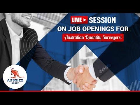 Live Session On Job Openings For Australian Quantity Surveyors!