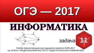 Задание №11 ОГЭ-9 по информатике. Анализ информации, представленной в виде схем.