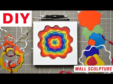 How to make a 3D wall sculpture | DIY | OLGA SKOROKHOD