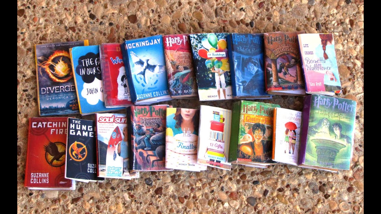 how to make mini books for your american doll youtube