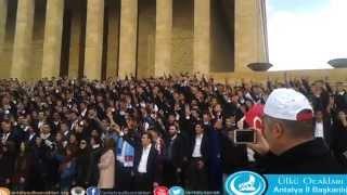 Anıtkabir'deki Muhteşem Ülkücü Yemini - Antalya Ülkü Ocakları