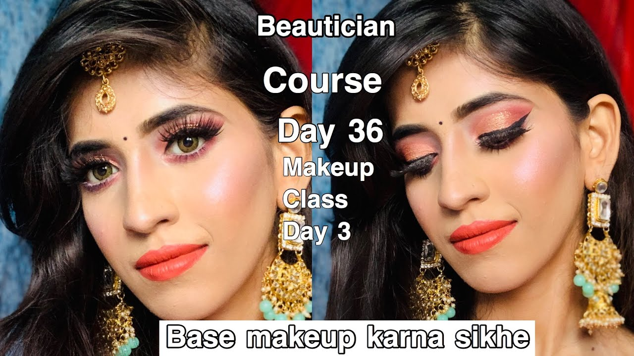 Step By Step Base Makeup in Hindi |how to apply foundation|beautician course day 36|shrutimakeover