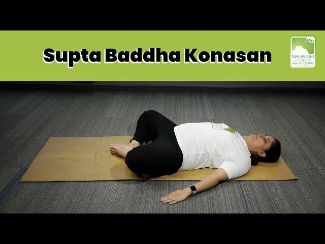 Supta Baddha Konasan | Lying on Back | Dr Avani Pandya | Daily Yoga