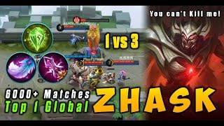 Zhask Insane 6K+ Matches Super Magic Damage Guide by Top1 Global ZHASK Mobile Legends