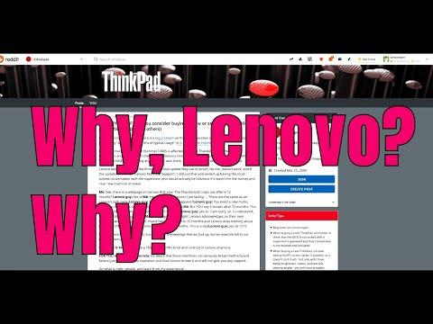 Lenovo Goes Full Apple: Gives Customers The Shaft On Thunderbolt Design Flaw 😞