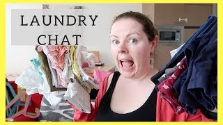 LAUNDRY CHAT || GETTING PREGNANT || BEING A WORK AT HOME MOM