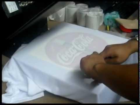 Camisetas para sublimación. 100% Poliéster - YouTube 6c842cd06134f