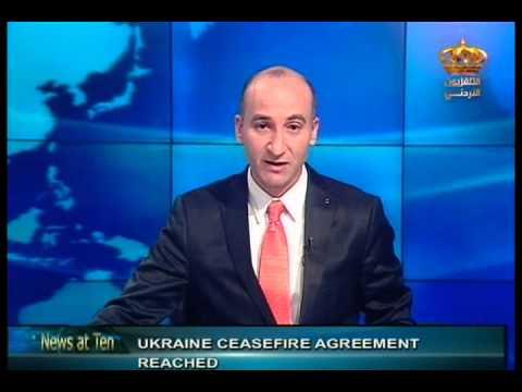 English News at ten in Jordan Television 12-02-2015