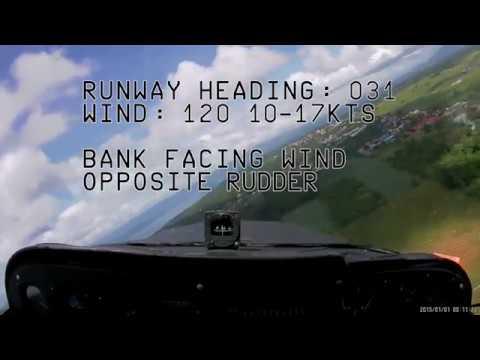 Philippine Air Force T-41D Sideslip landing