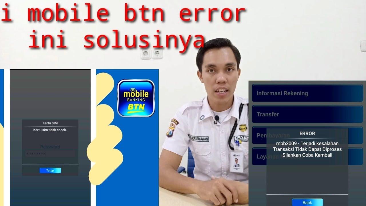 i mobile btn error ini solusinya