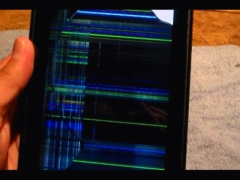 How to fix vertical and horizontal LINES on Kindle Fire Screen, Fix frozen  screen appearance