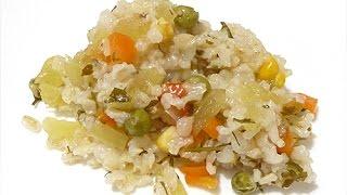 Как вкусно приготовить бурый рис с овощами в пароварке