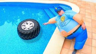 Граемо в Поліцію - колесо впало в басейн