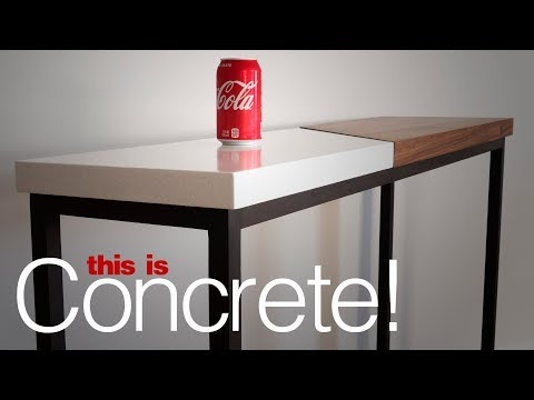 DIY Concrete and Wood Table   Woodworking and Concrete Working