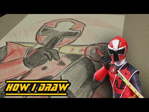 Ninja Steel Red Ranger How I Draw
