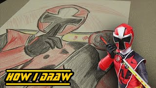 Ninja Steel Red Ranger - How I Draw