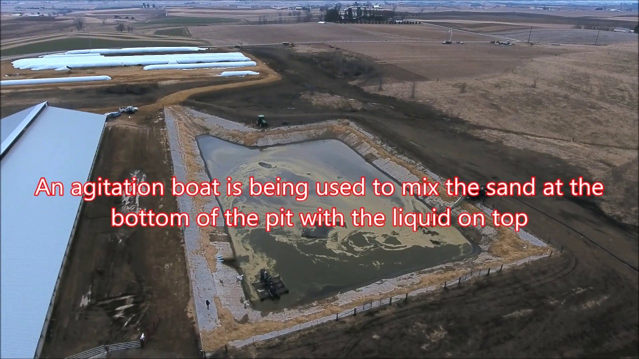 Manure Dragline | Emptying Lagoon at the Dairy