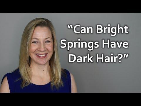 Q&A - Can a bright spring have dark hair?