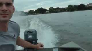 2008 Yamaha 25hp 2 stroke outboard Test Run