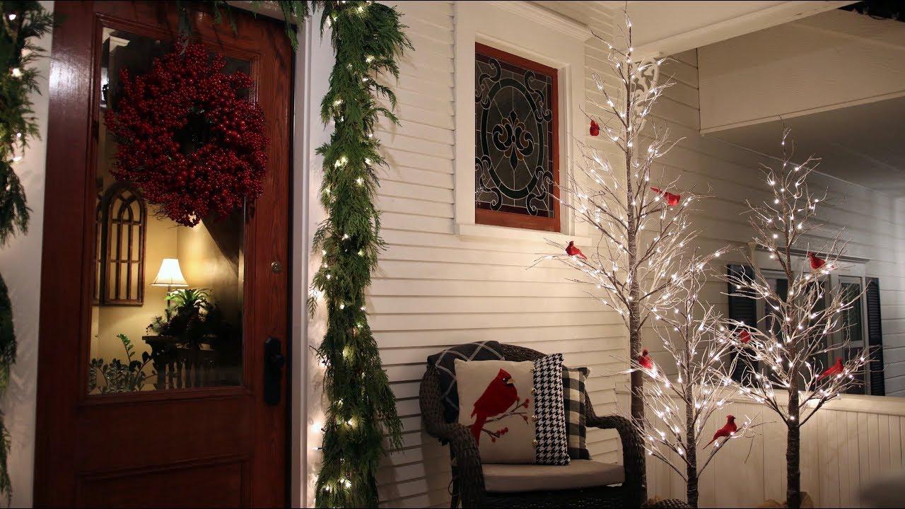 Christmas Planters For Front Porch.Estate Planters Part 2 Decorating The Front Porch Garden Answer