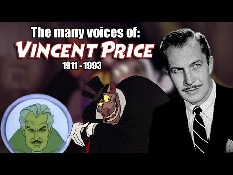 Many Voices of Vincent Price Animated Tribute  Great Mouse Detective