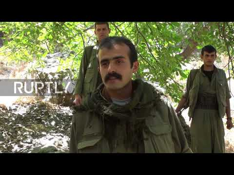 Iraq: Kurdish militants go on patrol amid uptick in fighting against Iranian forces