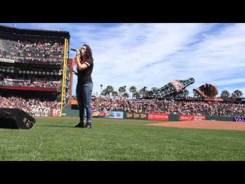 Erin O'Neill National Anthem SF Giants 8/29/15