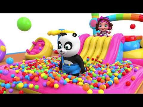 Pinky and Panda Playtime at Outdoor Playground