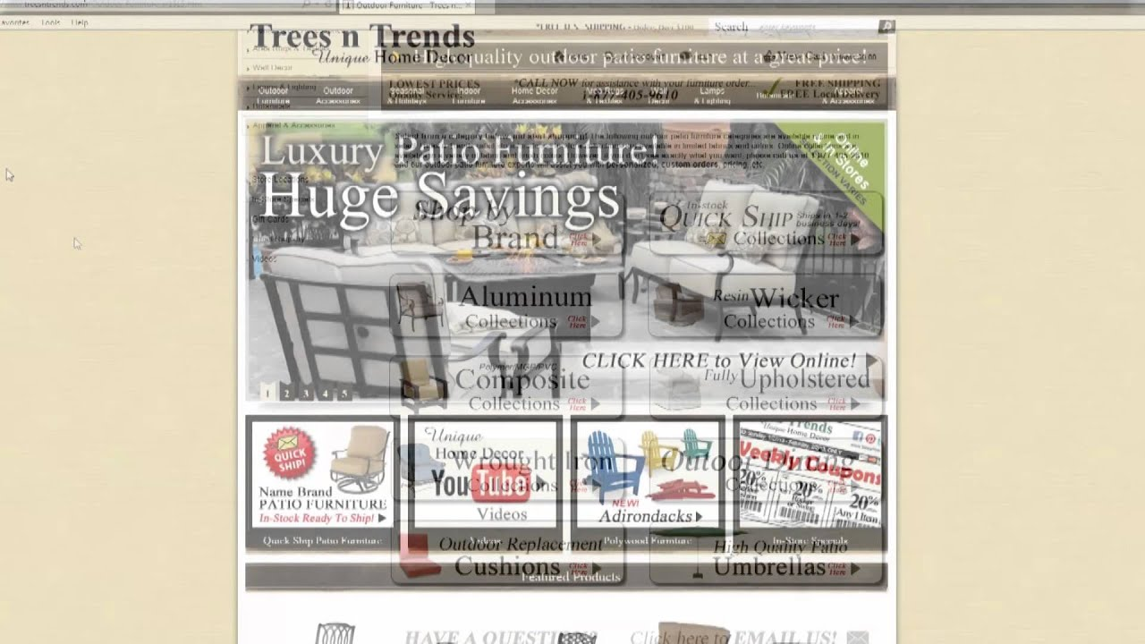 trees and trends patio furniture treesntrends trees trends 2014 outdoor patio furniture introduction youtube