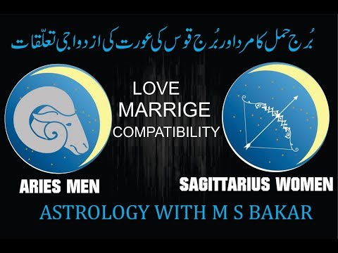 Aries Man And Sagittarius Woman Love Compatibility,urdu/hindi