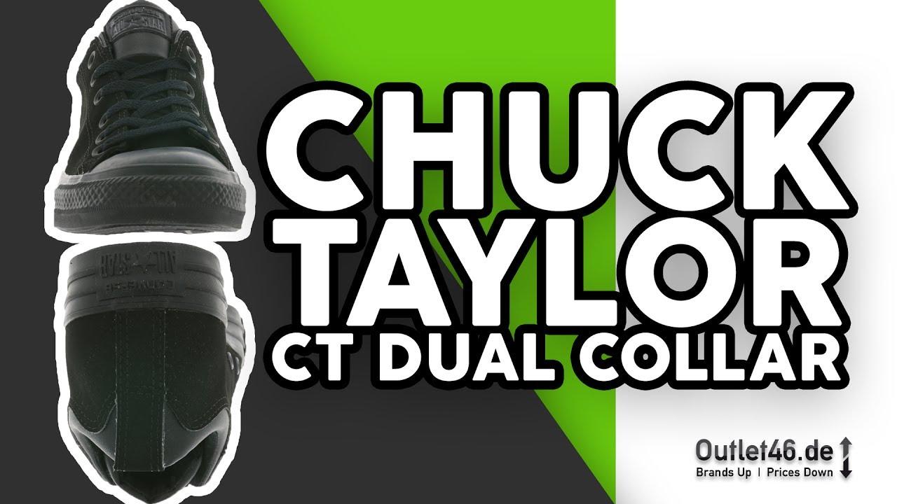 975c818df6a0 Converse All Star Chuck Taylor CT Dual Collar Sneaker Black 150467C Shoes
