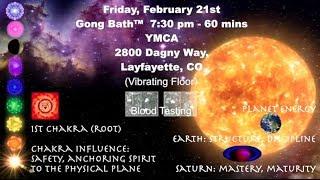 Colorado Chakra Gong Bath™ Tour with Richard Rudis