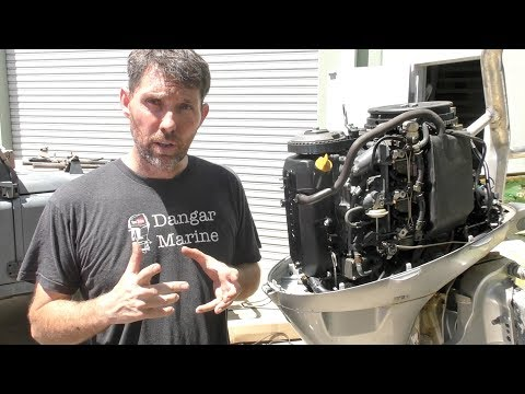 Changing the oil in a four stroke outboard