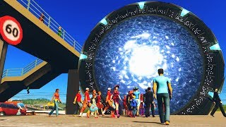 Traffic so Bad Citizens use STARGATES to Escape in Cities Skylines!
