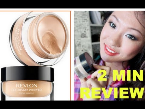 2 min review: Revlon Colorstay Whipped Creme Foundation - YouTube