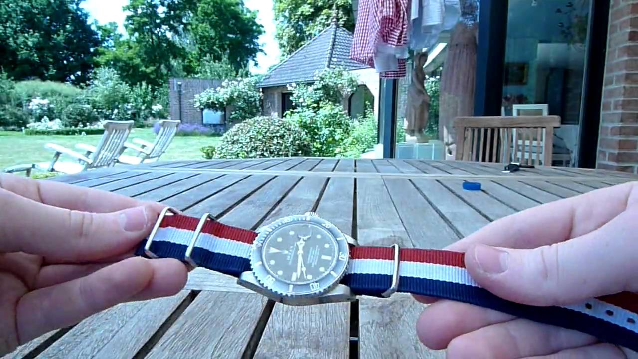 How To Put A Nato Strap On Your Rolex Watch Youtube