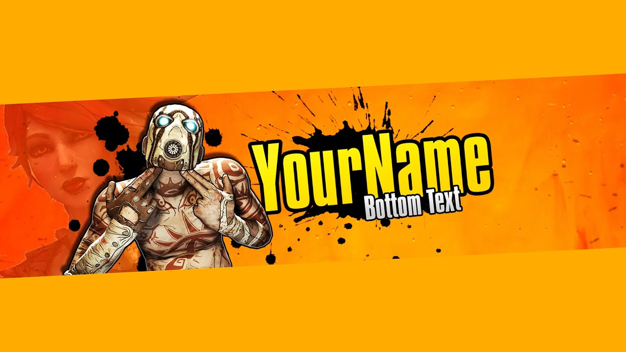 Borderlands 3 Youtube Banner Template Speedart Free Download Youtube