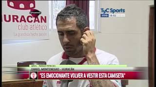 """Daniel Montenegro: """"Es emocionante volver a vestir la camiseta de Huracán"""""""