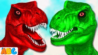 T-Rex Dinosaurs Finger Family Song | Learn Colors Finger Family Songs | All Babies Channel