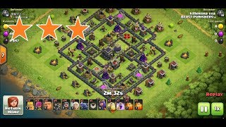 Clash of Clans TH9 village base attack strategy 3 stars !!!! NEW APRIL 2018