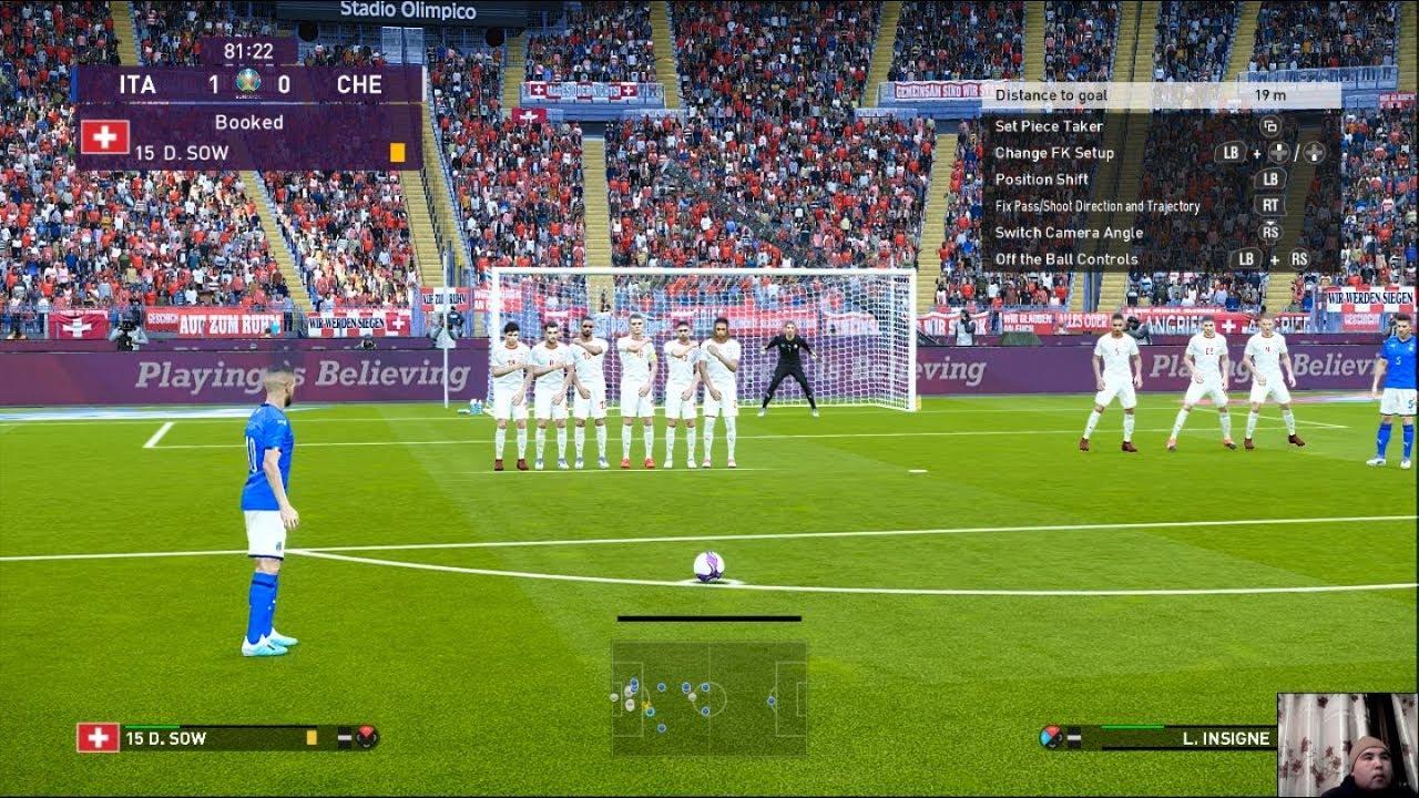 PES 2020 | Italy vs Switzerland EURO 2020 | L.Insigne Free ...
