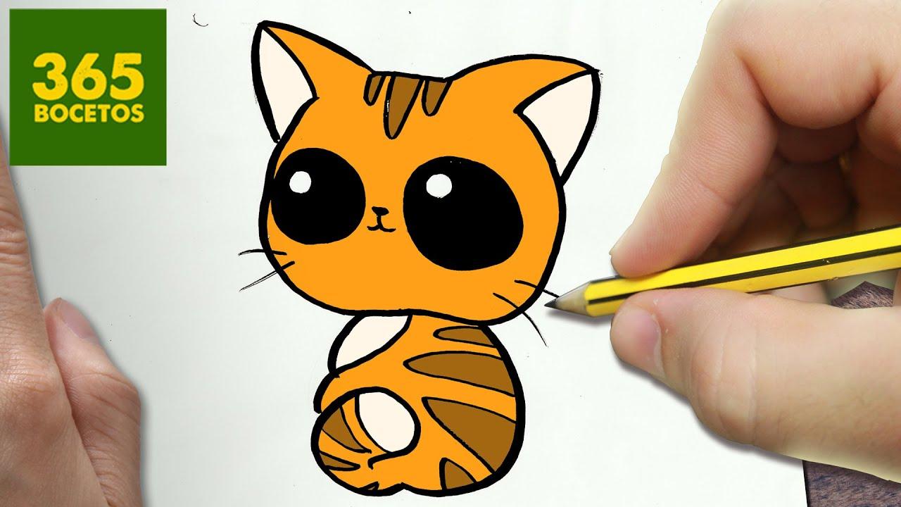 Como Dibujar Gato Kawaii Paso A Paso Dibujos Kawaii Faciles How To Draw A Cat