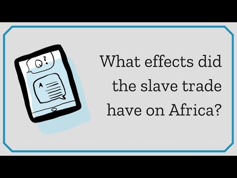 What effects did the slave trade have on Africa? | eNotes