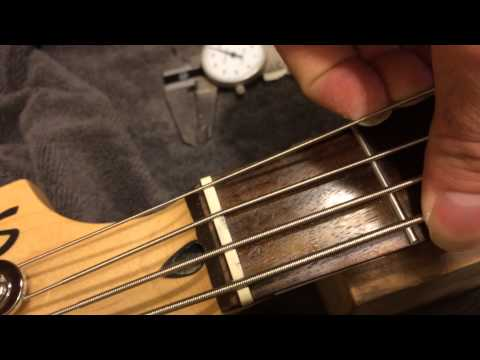 how to tell if your bass-s nut slots are way too tight! (see description)