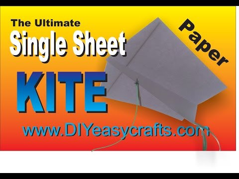 How to make a single sheet paper kite